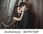 young beautiful pair of lovers... | Shutterstock . vector #387937369
