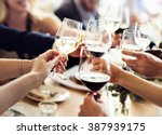 business people party... | Shutterstock . vector #387939175