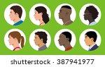 multicultural women and men... | Shutterstock .eps vector #387941977