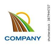 vector sign organic farming ... | Shutterstock .eps vector #387944737