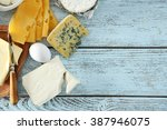 frame of fresh dairy products