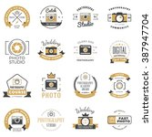 set of photography logo design... | Shutterstock .eps vector #387947704