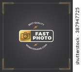 photography logo design... | Shutterstock .eps vector #387947725