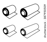 vector roll of any foil black... | Shutterstock .eps vector #387950509