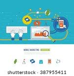 internet and mobile marketing... | Shutterstock .eps vector #387955411