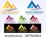 set real estate logo  | Shutterstock .eps vector #387964861