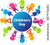 children's day concept. cute... | Shutterstock . vector #387976681