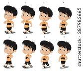kid walkcycle animation.vector... | Shutterstock .eps vector #387983665