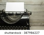 old typewriter | Shutterstock . vector #387986227