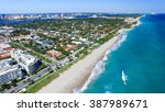 palm beach  florida. amazing... | Shutterstock . vector #387989671