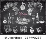 vector set of vine products.... | Shutterstock .eps vector #387990289