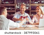 business people are smiling ... | Shutterstock . vector #387993061