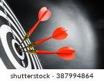 darts board with arrow | Shutterstock . vector #387994864