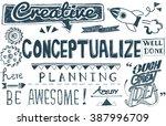 conceptualize ideas creative... | Shutterstock . vector #387996709
