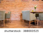 red brick wall in new... | Shutterstock . vector #388003525