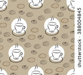 seamless pattern with hand... | Shutterstock .eps vector #388004845