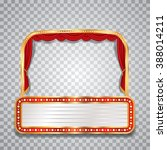 vector stage with red curtain ... | Shutterstock .eps vector #388014211