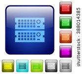 set of rack servers color glass ...