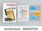 business brochure cover  vector | Shutterstock .eps vector #388024705
