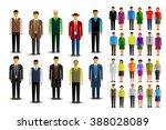 people vector icon set | Shutterstock .eps vector #388028089