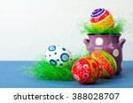 easter egg in a beautiful and... | Shutterstock . vector #388028707