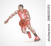 abstract basketball player of... | Shutterstock . vector #388035355
