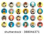 avatar  woman  man heads.... | Shutterstock .eps vector #388046371