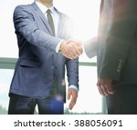 business handshake. two... | Shutterstock . vector #388056091