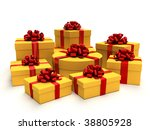 colorfully arrangement of gifts ... | Shutterstock . vector #38805928