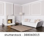classic interior design of... | Shutterstock . vector #388060015