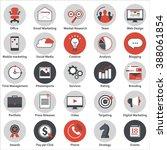 set of modern flat design icons ... | Shutterstock .eps vector #388061854