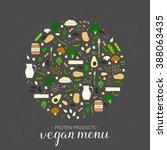 hand drawn vegan proteins... | Shutterstock .eps vector #388063435