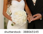 beautiful bridal couple holding ...   Shutterstock . vector #388065145