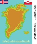 Map Of Greenland And Iceland....