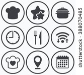 clock  wifi and stars icons.... | Shutterstock .eps vector #388070485
