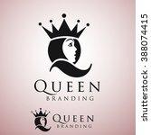 queen logo | Shutterstock .eps vector #388074415