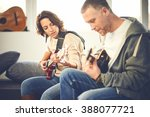 musician teaching his... | Shutterstock . vector #388077721