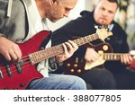 guitar lesson | Shutterstock . vector #388077805