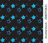 pattern with stars. vector... | Shutterstock .eps vector #388093831
