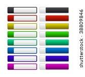 set of vector buttons   Shutterstock .eps vector #38809846