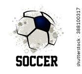 Vector Grunge Soccer Design   ...