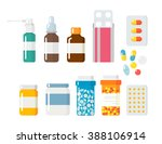 pills capsules icons vector... | Shutterstock .eps vector #388106914