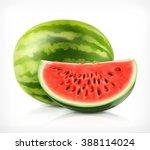 watermelon  vector icon | Shutterstock .eps vector #388114024
