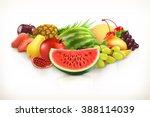 harvest   juicy fruit and... | Shutterstock .eps vector #388114039