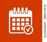 calendar checkmark icon | Shutterstock .eps vector #388114921