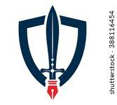 nib   pen   sword and shield...   Shutterstock .eps vector #388116454