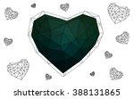dark green heart isolated on... | Shutterstock .eps vector #388131865