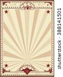 circus retro poster sunbeams. a ... | Shutterstock .eps vector #388141501