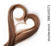 strands of brown hair in shape...   Shutterstock . vector #388143271