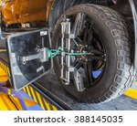 car wheel fixed with... | Shutterstock . vector #388145035